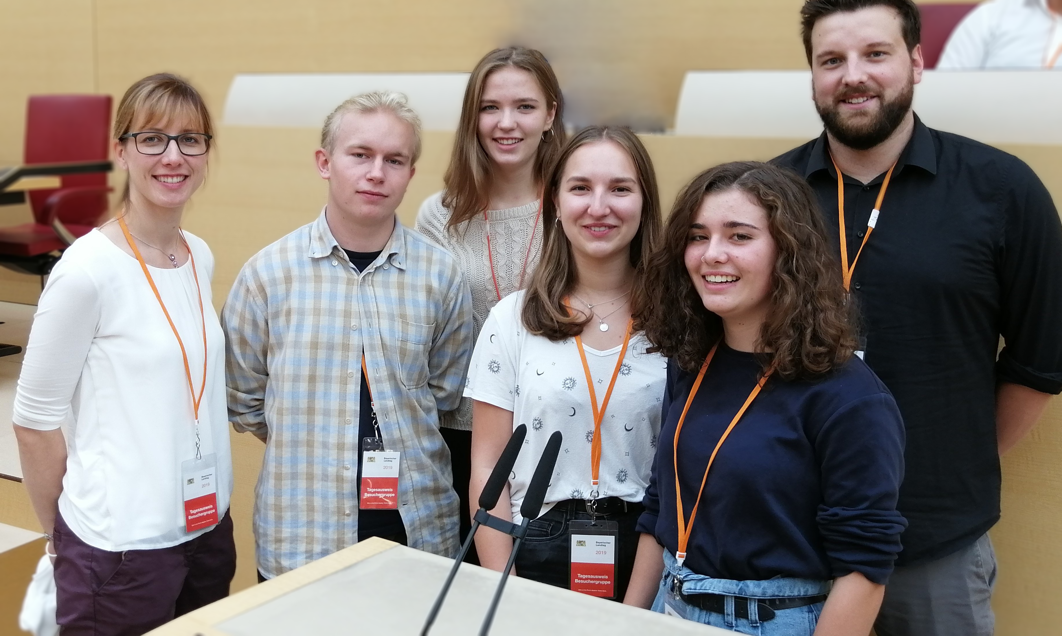 v.l. Diana Emmert, Tilman Kerber, Stefanie Schnellbach, Lisa Klett, Anne Mäckler, Christian Gräb